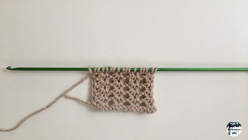 Punto calado 1 - Puntilla de crochet tunecino • El Vainiquero