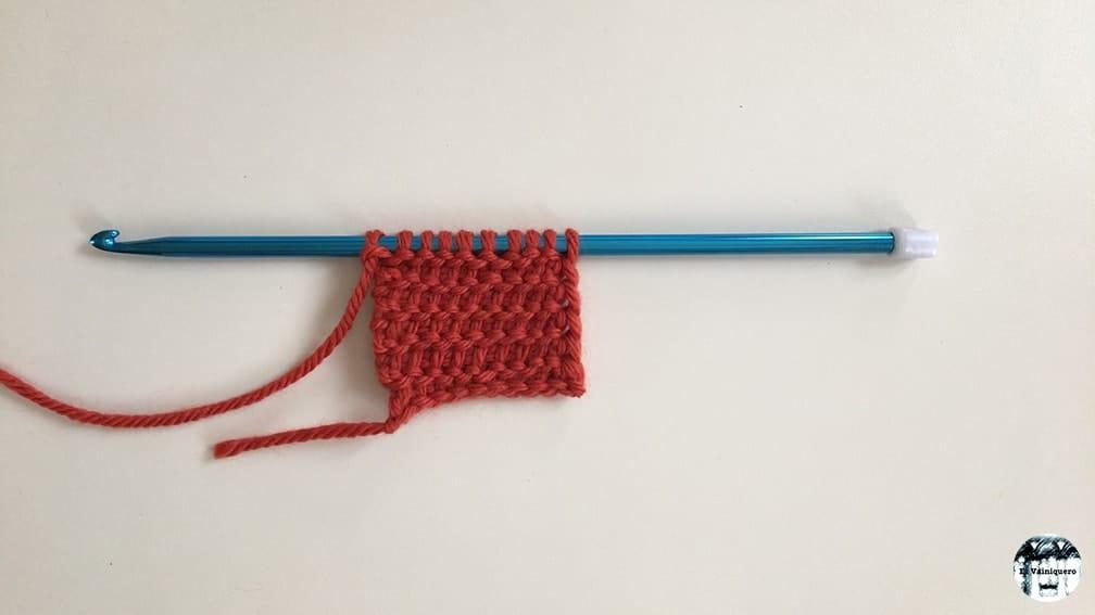 Punto tunecino del revés - Crochet tunecino • El Vainiquero