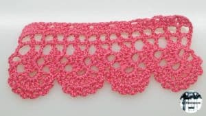 Puntilla de crochet a medida