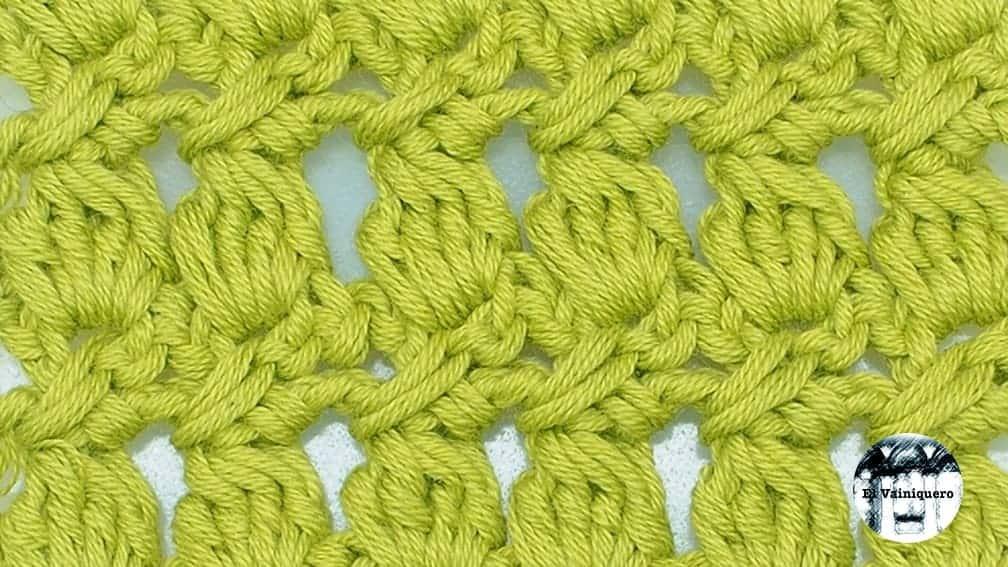 Punto fantasía crochet #2 - Ganchillo