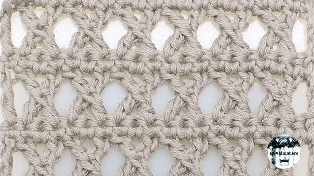 Punto fantasía crochet #3 – Ganchillo