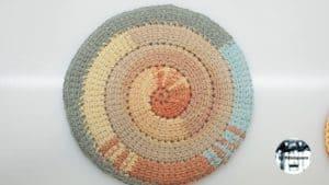 Espiral de ganchillo tunecino